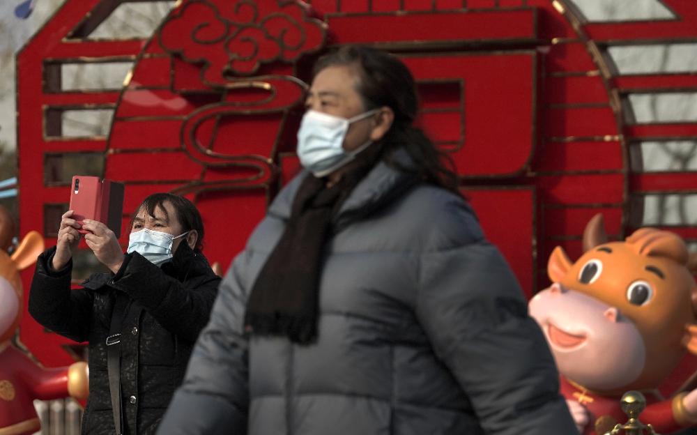 中國自去年3月以來,今年1月新冠病毒感染病例最多