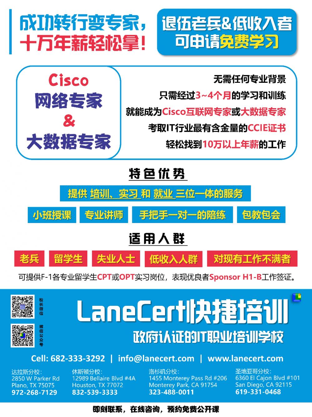 LaneCert Cisco思科網路教學中心