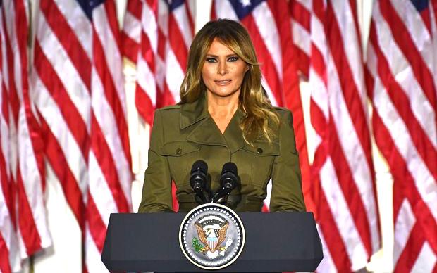 第一夫人梅拉尼娅在共和黨全國代表大會上的演說爲總統增光添彩
