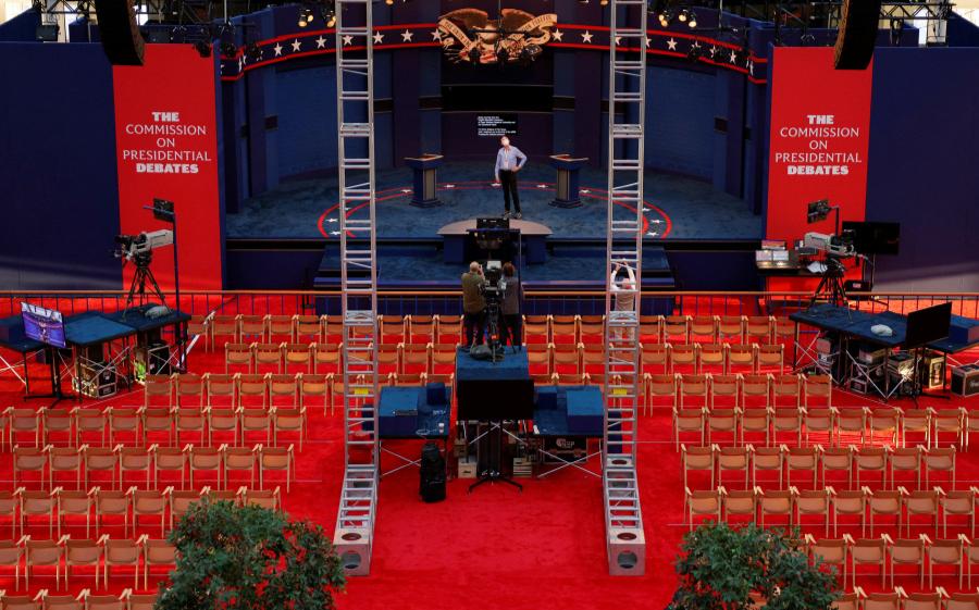 美國總統大選首場辯論今晚登場