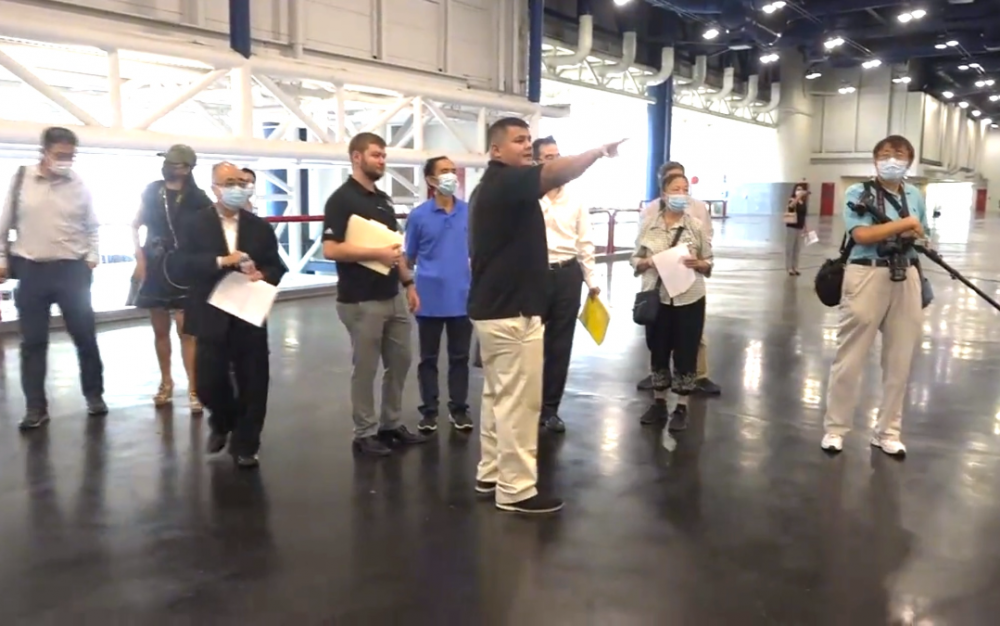 北美首屆!華人社團前往休斯頓2021年世界乒乓球錦標賽實戰場館考察