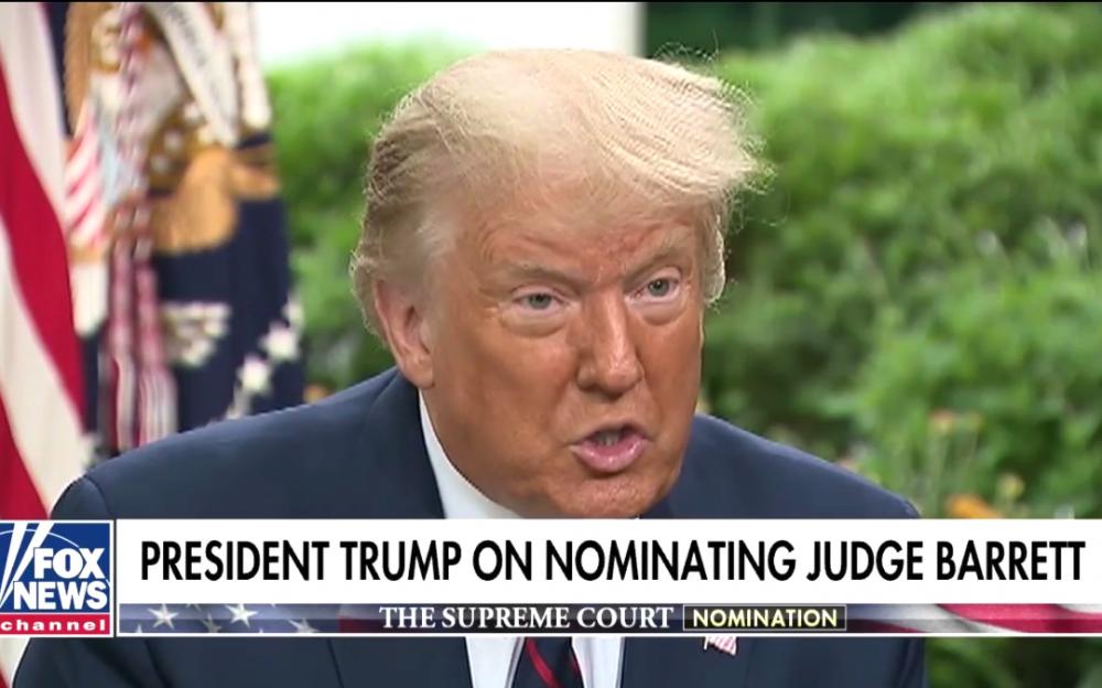 特朗普告诉《福克斯与朋友》,他想为最高法院选择一名诠释学家