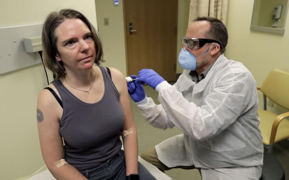 新冠病毒疫苗首次人類試驗今天在美國開始   實現防禦新冠目標重要一步