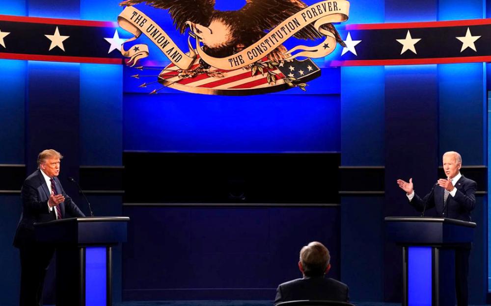 特朗普與拜登的首場總統辯論:爆炸性爭吵不停,相互攻擊不斷