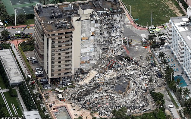 迈阿密建筑物倒塌死亡人数上升至 4人    仍有159人失踪