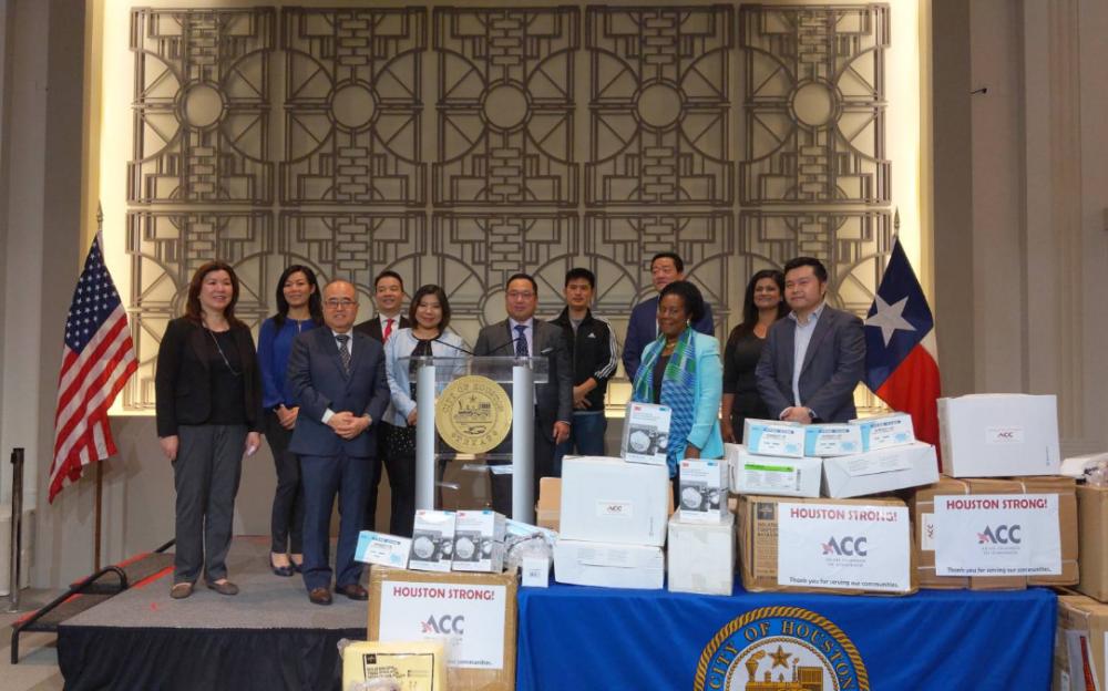 亞裔商會捐款5萬物資 助休斯敦地區醫院防疫