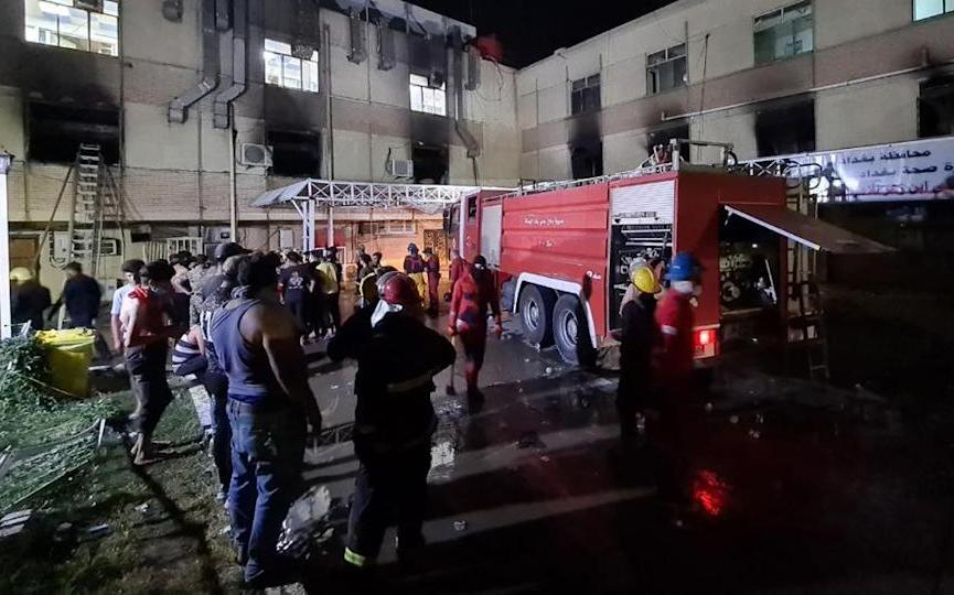 伊拉克首都巴格達醫院氧氣罐爆炸起火    至少82人喪生