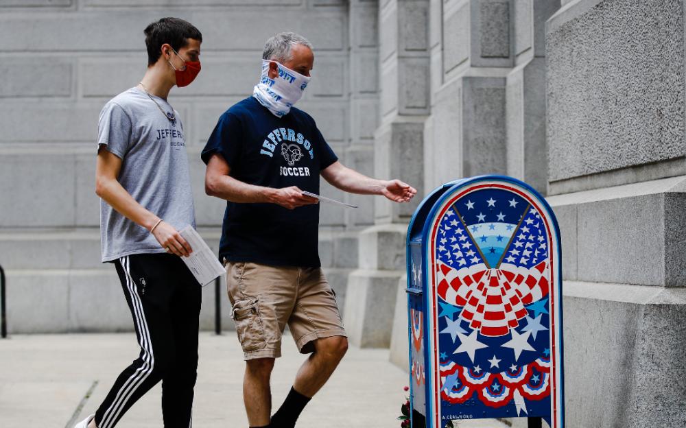 賓夕法尼亞州有37萬多人申請郵寄選票被拒絕