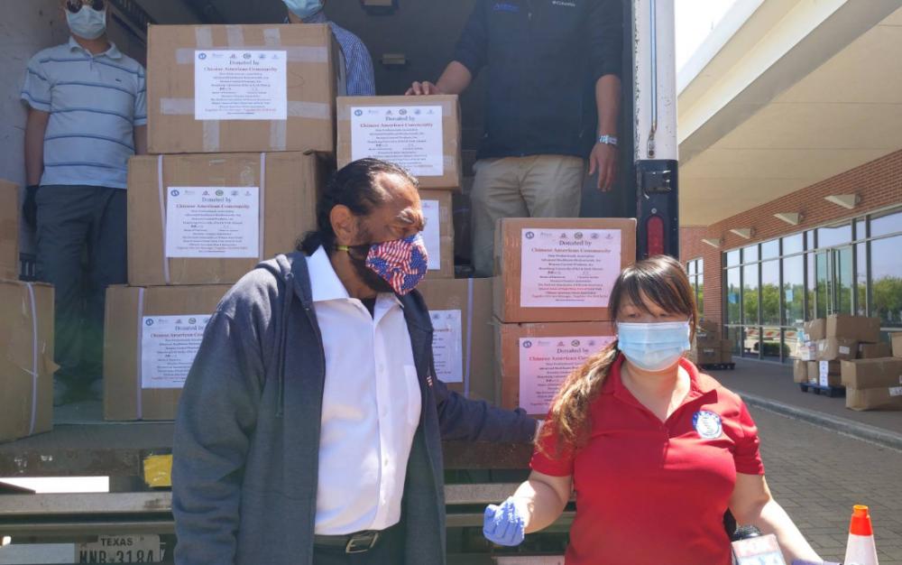 華夏學人協會 捐贈3萬口罩給VA醫院