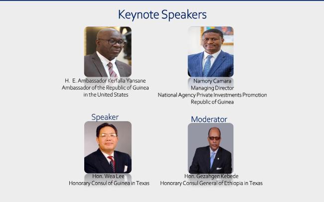 幾內亞駐美國大使館舉辦研討會,展示美國與幾內亞合作機會並介紹德州新任名譽總領事