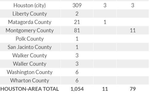 03/31 疫情更新: 大休斯敦地區病毒感染人數1054人