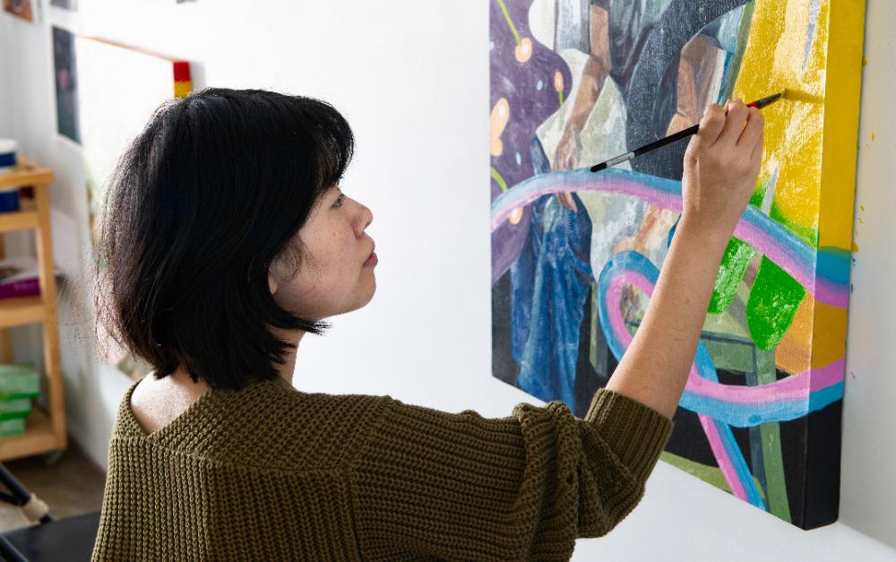 華裔藝術家王子平,在Archway Gallery年度評審展 拔得頭籌