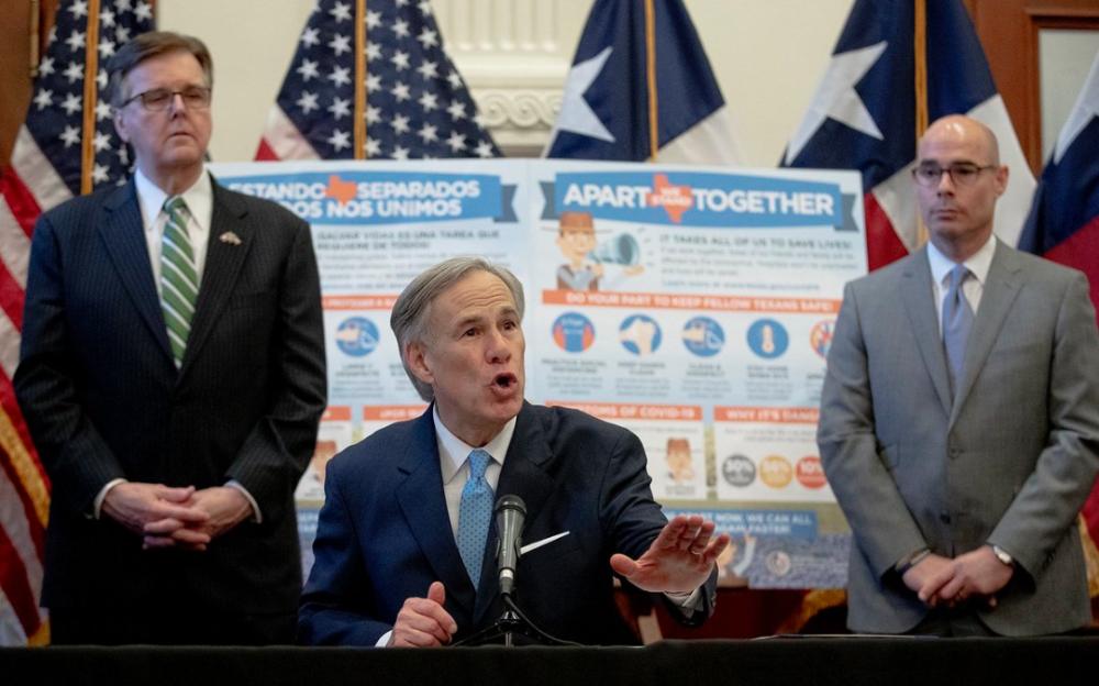 德克萨斯州长宣布德州待家令周四结束,周五开放营业