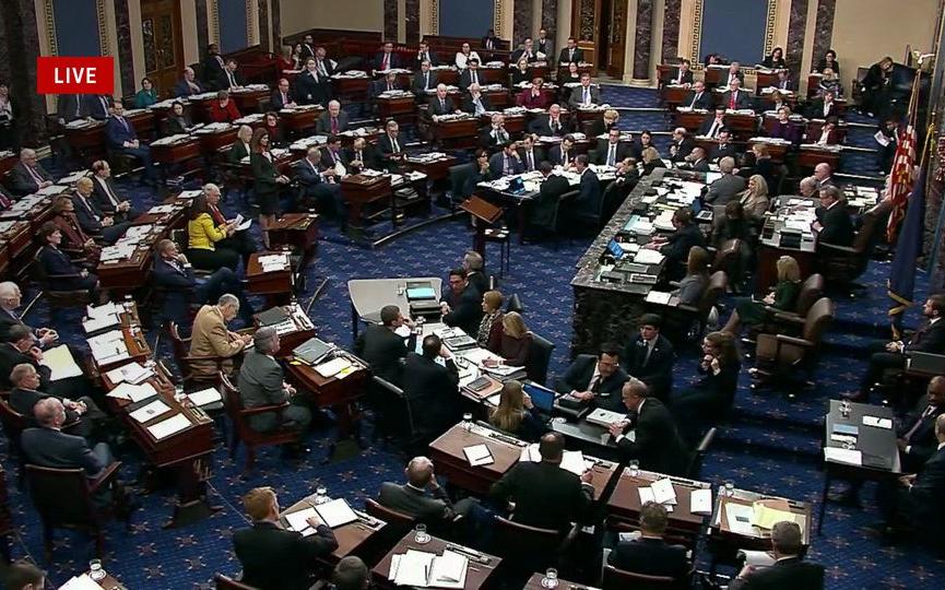 總統彈劾審判定案 參議院宣布特朗普無罪  佩洛西再遭打臉