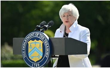 過去一年通貨膨脹率達到 5%是 13 年來最快的速度 財政部長耶倫在上週末表示今年的通脹率將達到 3%
