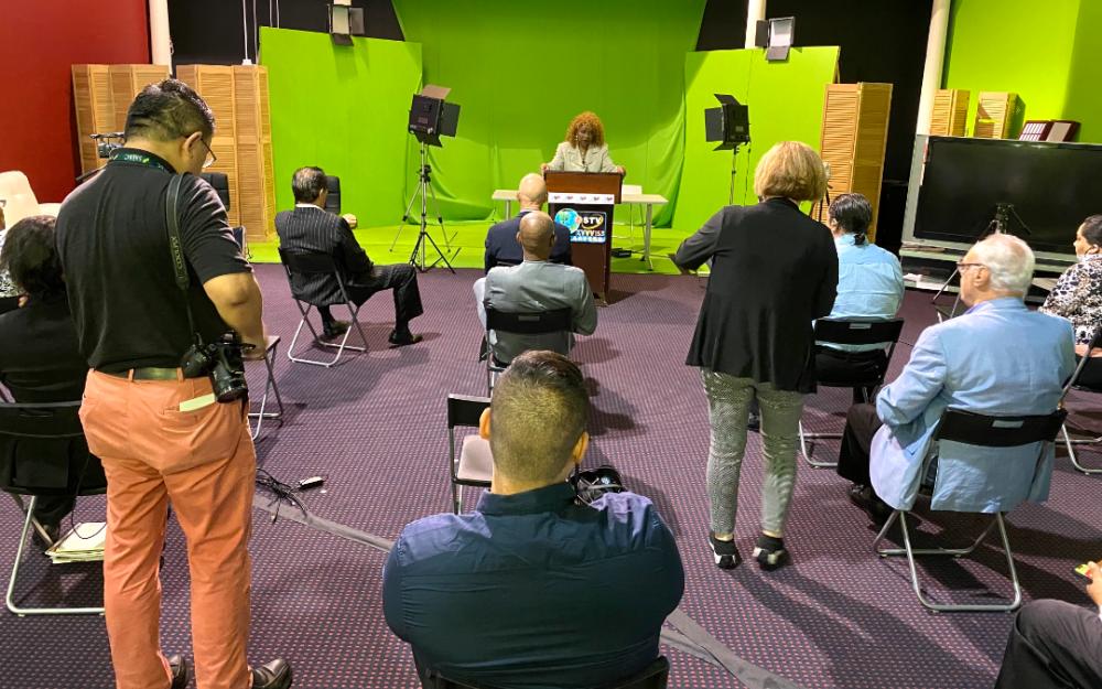 德州少數族裔媒體聯盟舉行新聞發布會  國會衆議員州參衆議員出席