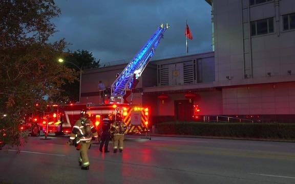 中国驻休斯敦总领事馆发生火灾   文件被烧毀