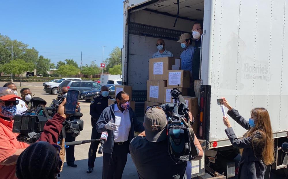 團結社區,集體捐獻 休士頓華裔社區在福遍縣防疫救援中大顯身手