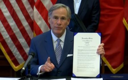 州长下令:德州社交距离措施延长至月底、学校关闭至5月4日