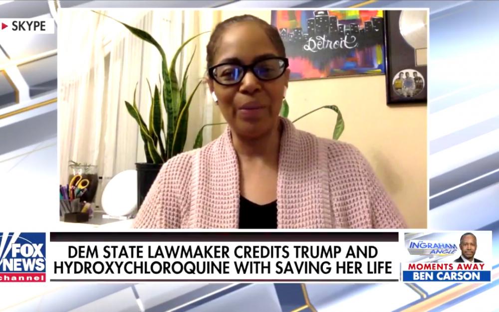 密歇根州民主党议员描述特朗普提到的羟基氯喹如何救了她的命