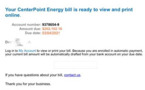 Center Point 出包,民眾收到20万电费帐单?灾情过后小心诈骗!