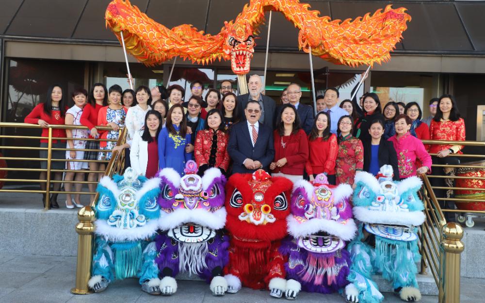 美南银行 春节舞龙舞狮活动