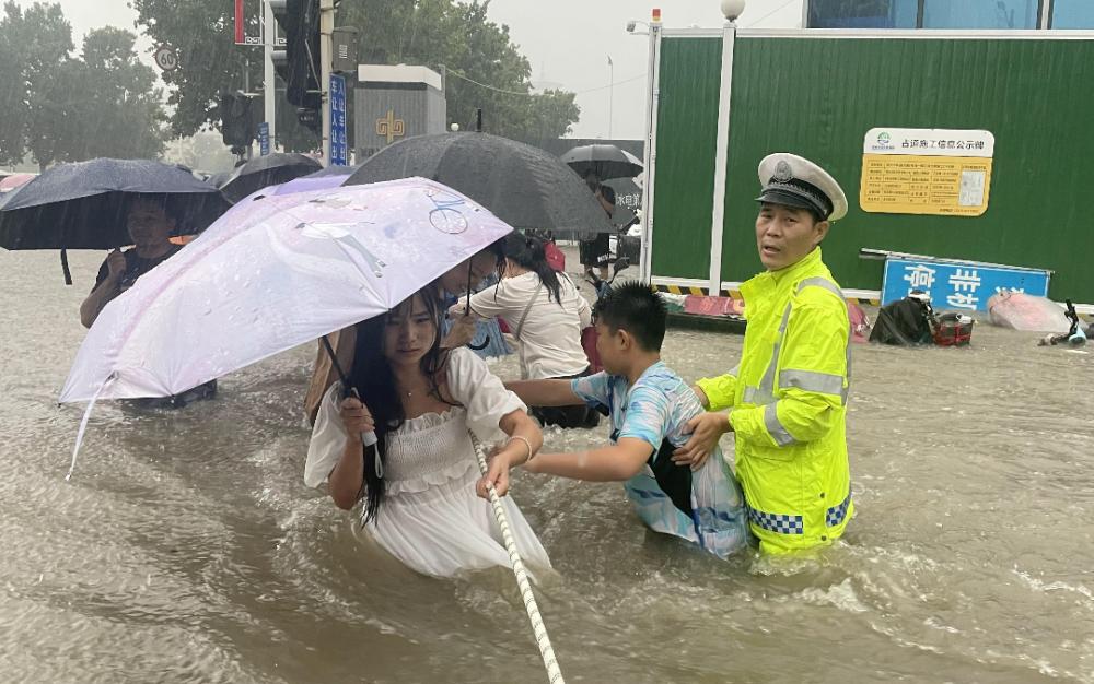 河南洪災 近125萬人受災