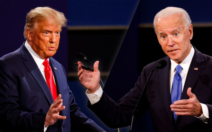 美国总统大选前最后一次激辩,特朗普与拜登直面交锋