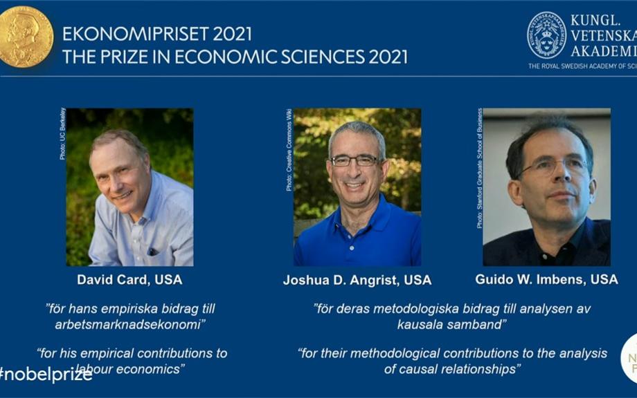 三位美國學者共獲諾貝爾經濟學獎