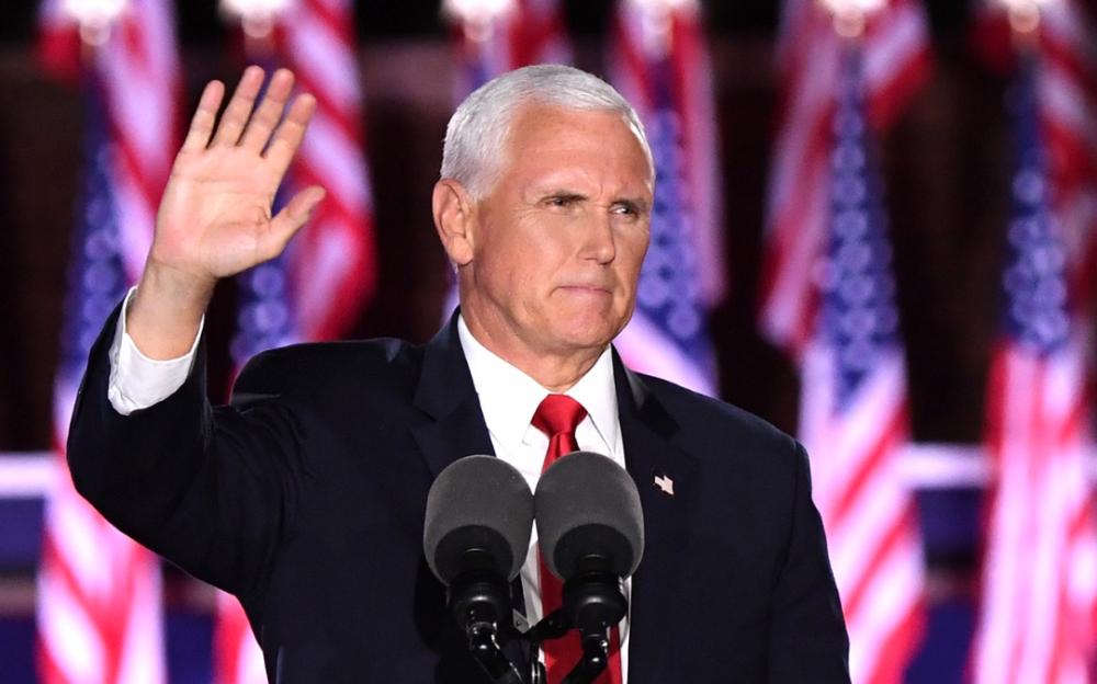 """彭斯接受副總統提名,警告選民""""在喬·拜登的美國,您們不會安全"""""""