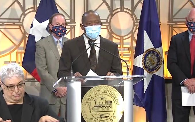 """休斯頓市長:""""風暴中期""""  休斯頓新冠病例數據越來越差"""