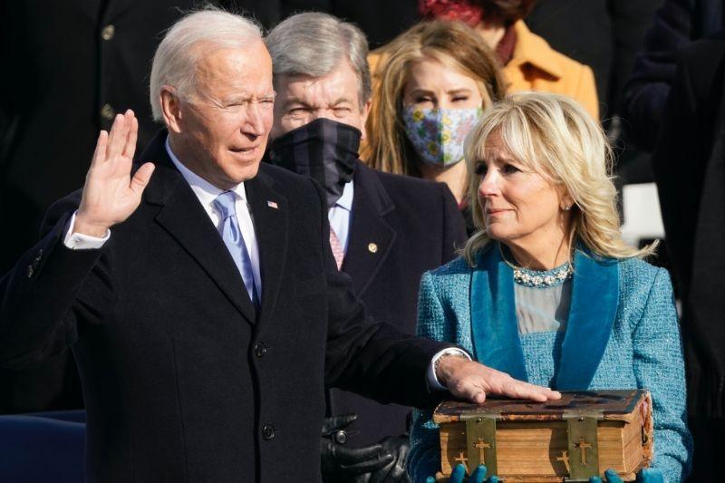 ▲拜登宣誓就任美國第46任總統。(圖/美聯社/達志影像)