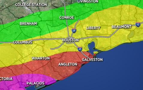 雨下不停!Brazoria 和 Galveston發佈洪水監管