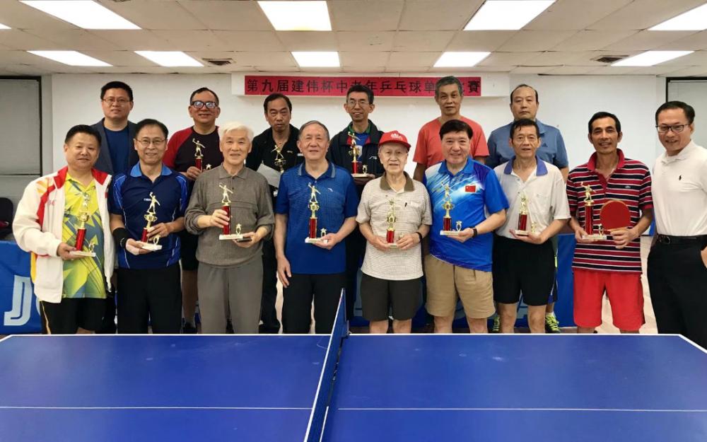 第九屆建偉杯中老年乒乓球單打比賽成功舉辦