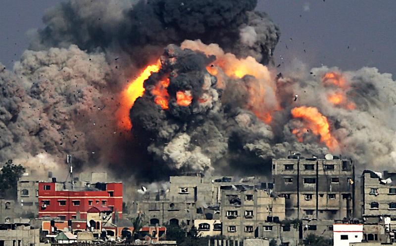 恐怖空袭在加沙地带蔓延    以色列和巴勒斯坦冲突带来最致命一天