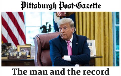 《匹茲堡郵政公報》支持特朗普    系該報近半個世紀首次認可共和黨總統