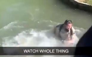 德州公園巡邏員,好心提醒社交距離,被惡劣民眾推下水