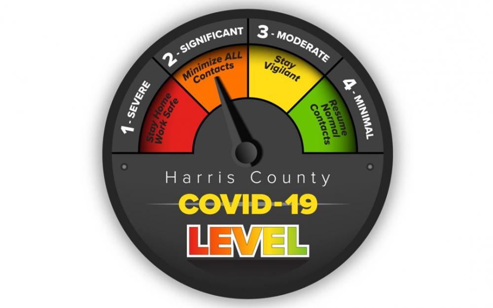 防疫見效,哈里斯縣COVID-19威脅等級下降