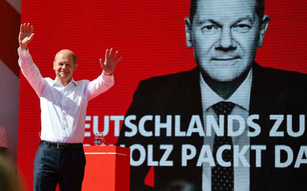 德國社會民主黨以微弱優勢擊敗默克爾領導的聯盟黨