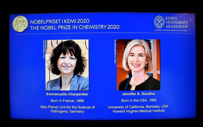 諾貝爾化學獎 兩位女性科學家獲得
