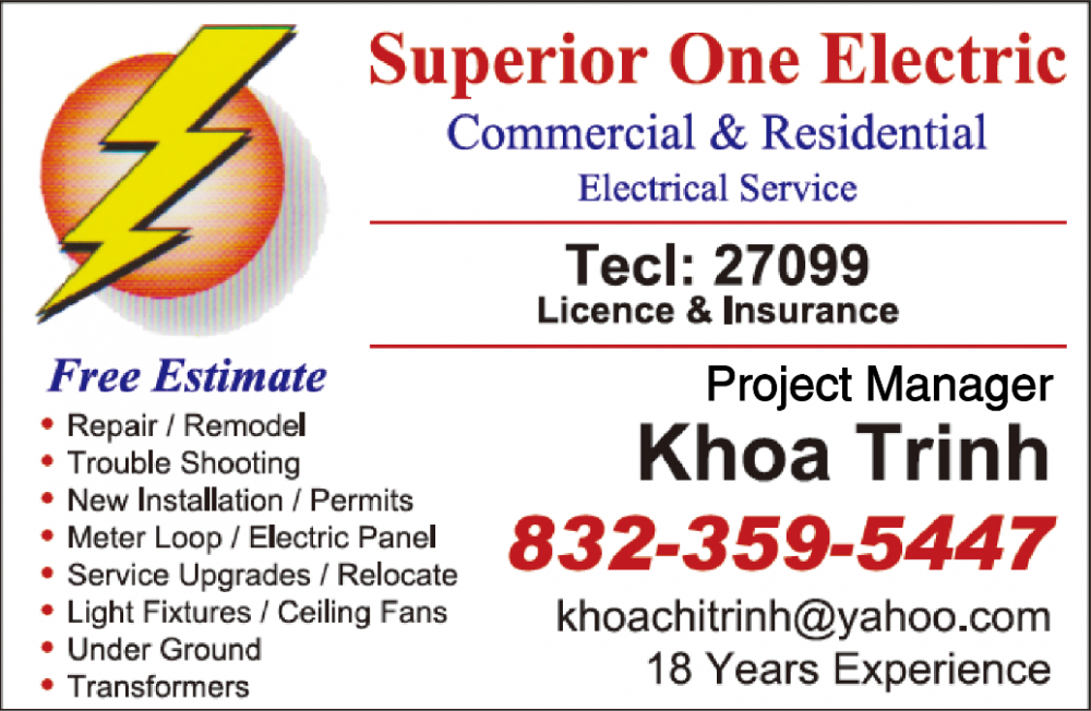 Superior One Electric commercial & Residential 電工