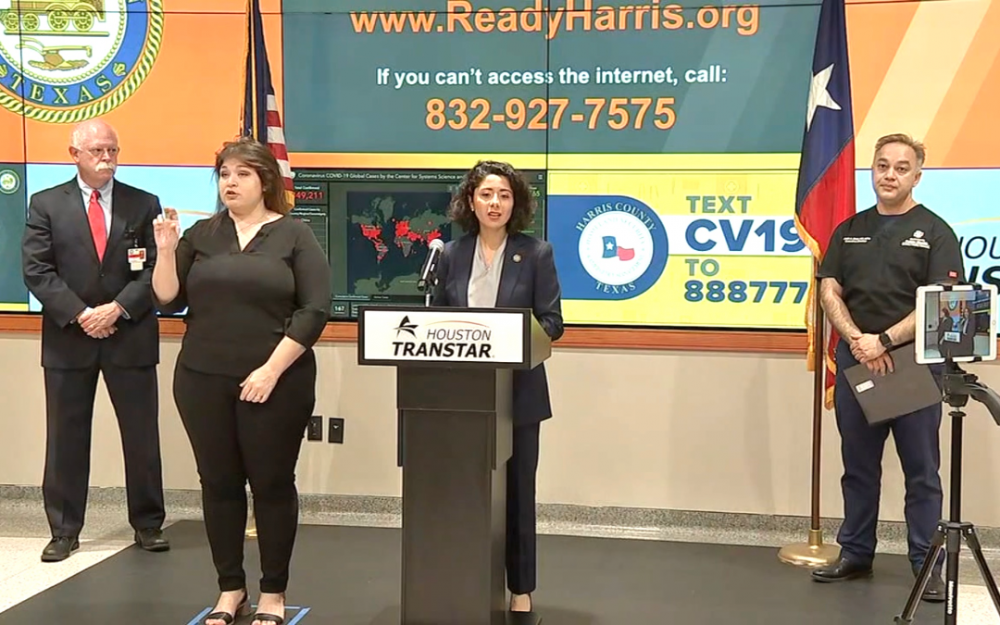 哈裏斯郡郡長指出現在可以進行更多的冠狀病毒測試